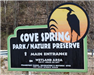 Cove Spring Park sign