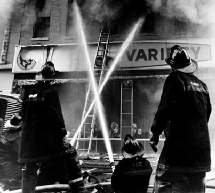 Dime Company fire on St. Clair Street