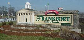 Welcome to Frankfort sign