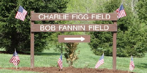 Field signage at Capital View Park
