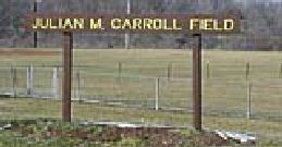 East Frankfort Park Carroll Field sign