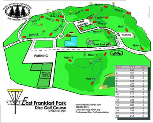 East Frankfort Park Disc Golf Course Map