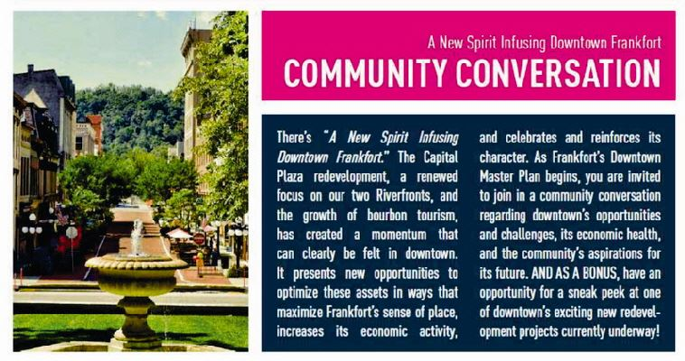 Community Conversation for a new spirit infusing downtown Frankfort